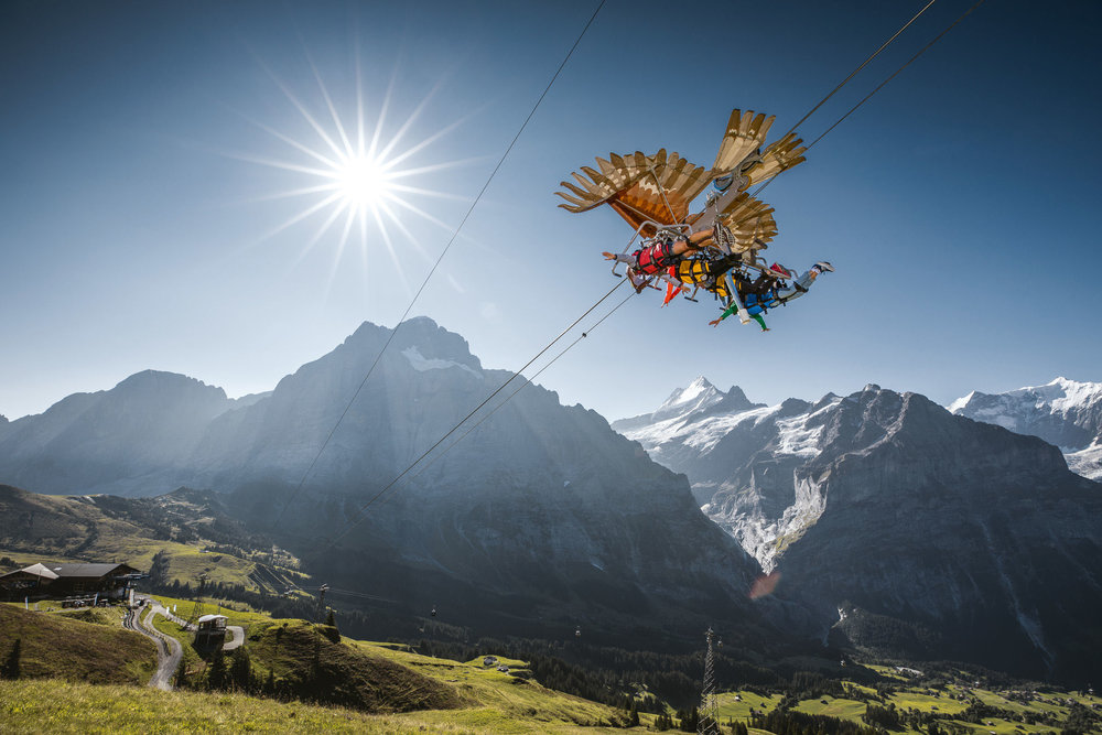 First Glider in Grindelwald Switzerland
