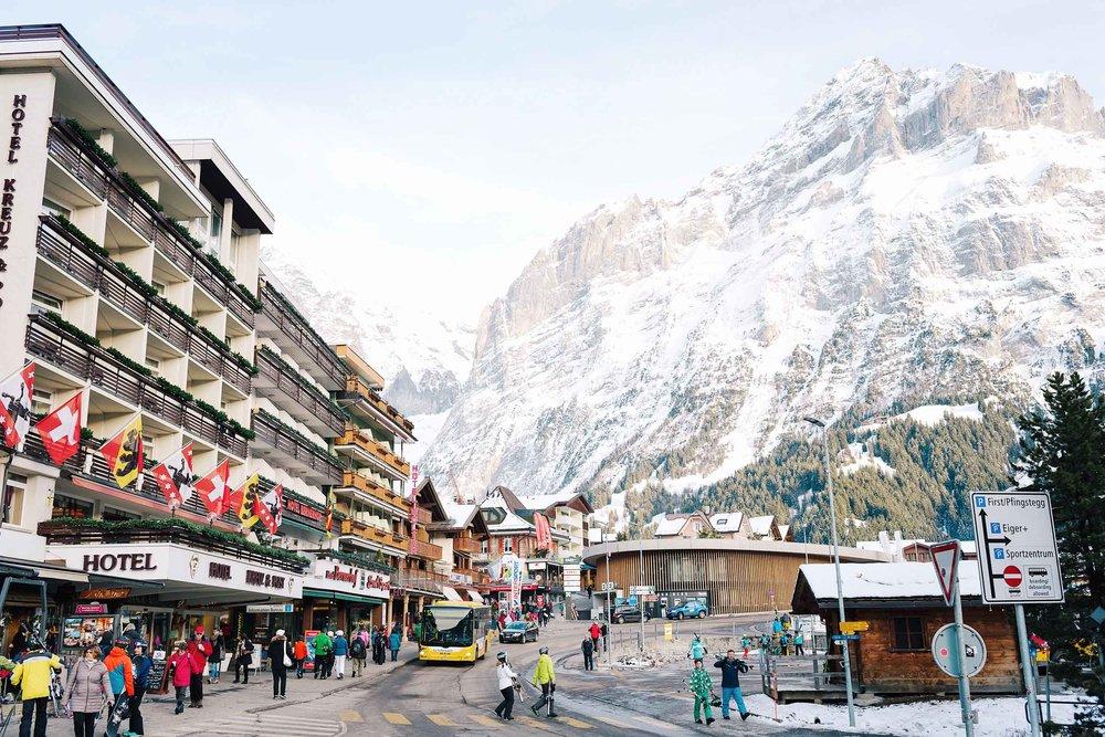The village in Grindelwald, Switzerland