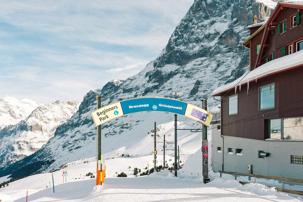 The start of the Eiger Sledge Run at Kleine Schiedegg down to Grindelwald