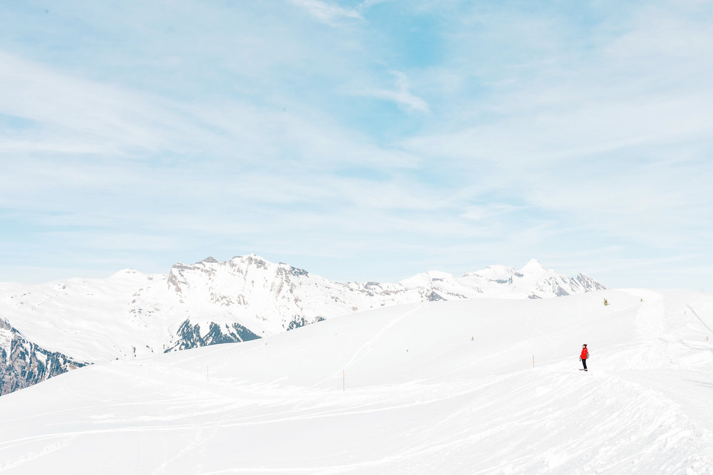 The Eiger Sledge Run is sometimes flat so you have to walk, but the views make it all worth it!