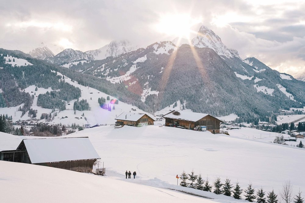 Unique winter adventure in Switzerland - fondue hiking in Gstaad