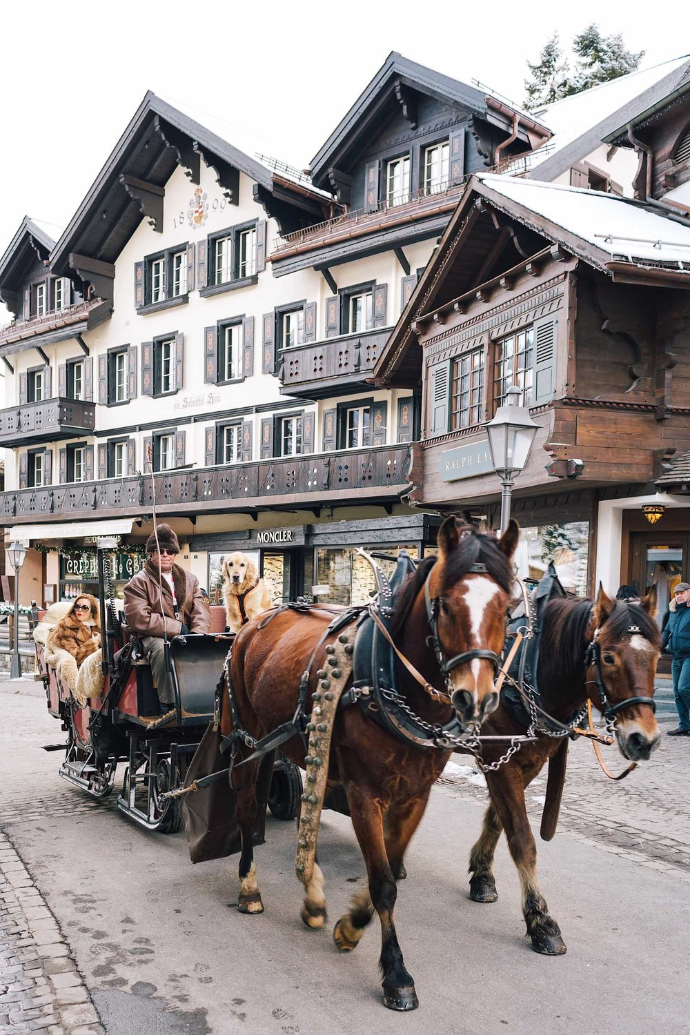 Gstaad is an upscale resort town in southwestern Switzerland in the canton of Bern