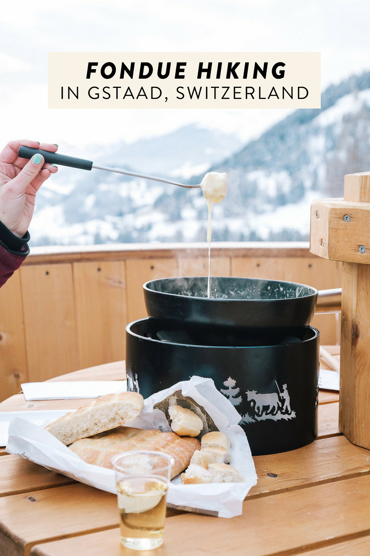 Just when you think Switzerland can't possibly get any better, you learn that in the Swiss town of Gstaad you can go on a fondue hike! The perfect, most unique winter adventure.