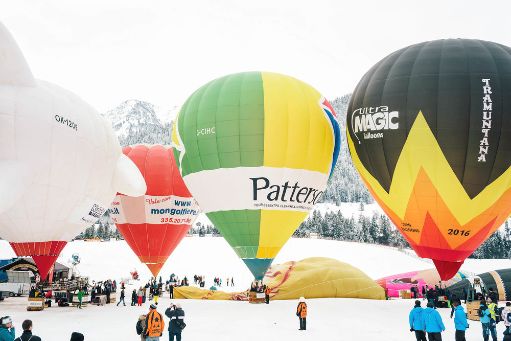 This year marked the 40th International Hot Air Balloon Festival of Chateau d'Oex, Switzerland