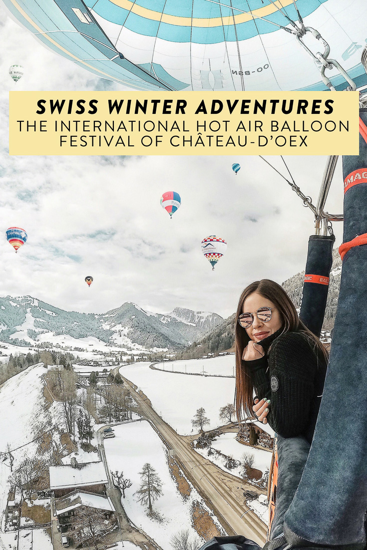 Château-d'Oex, a charming Swiss town, is famous for their International Hot Air Balloon Festival! Looking for the perfect winter adventure in Switzerland? Don't miss this!