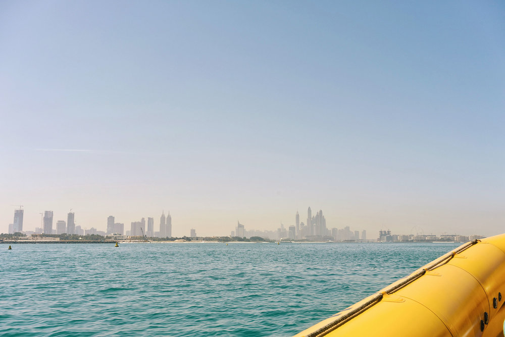 When in Dubai, see the sights via a boat tour!