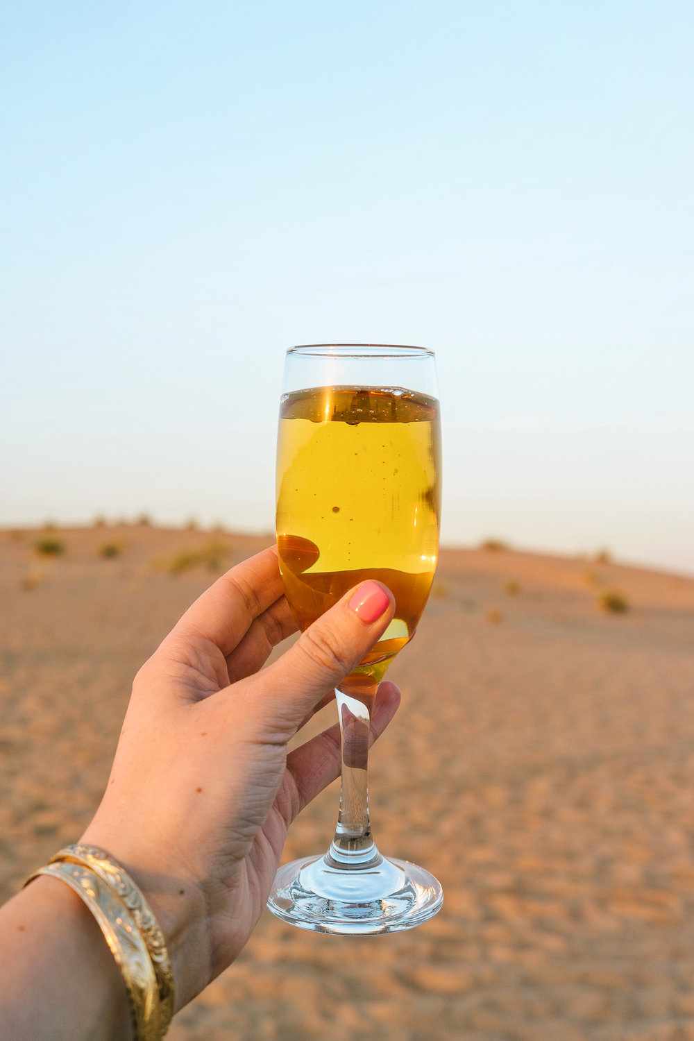 Cheers to a fun desert safari in Dubai!