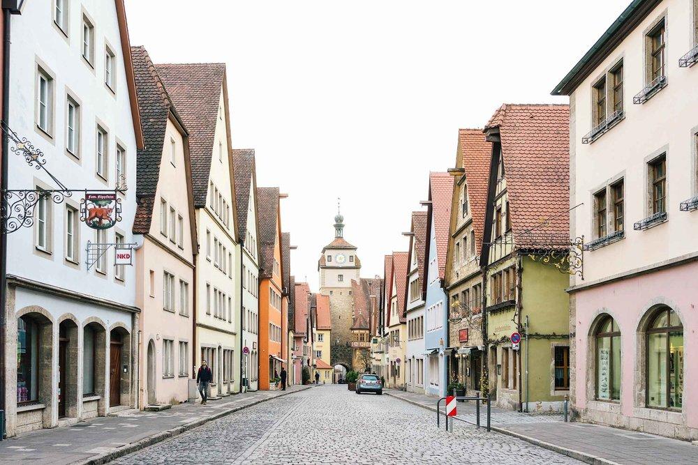 Golden hour views in Rothenburg