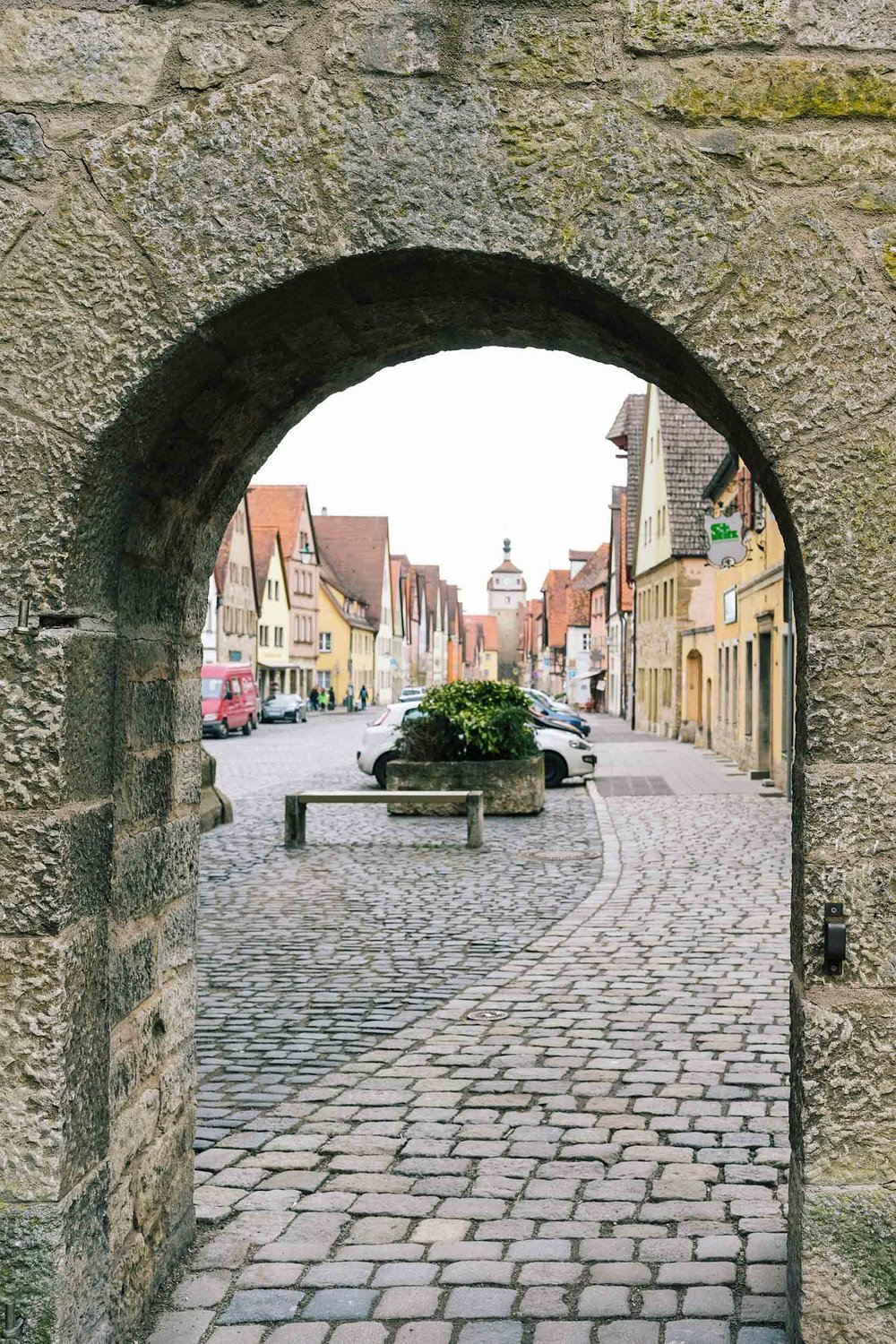 The entry to the medieval part of Rothenburg
