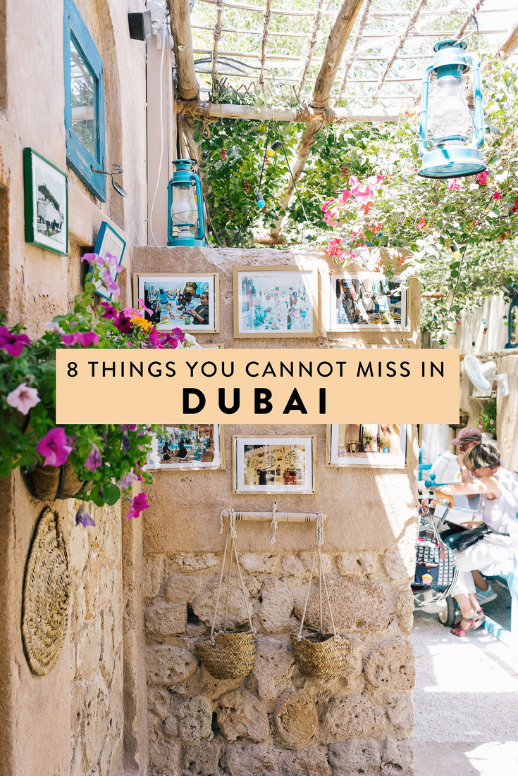 Dubai is full of countless attractions, making it hard to narrow down your to do list.  Here are 8 things you cannot miss when visiting, including a desert safari, the best places to eat, and more!