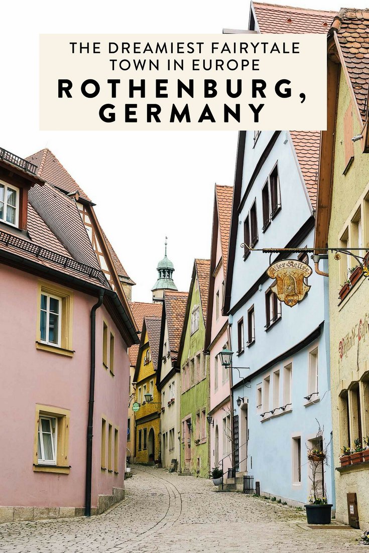 Rothenburg ob der Tauber in Germany's Bavaria region is a real life fairytale town in Europe. It's part of the Romantic Road and was Disney's inspiration behind Pinocchio!