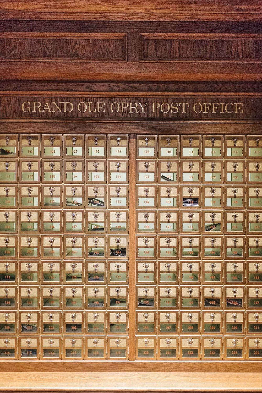 The Grand Ole Opry Post Office backstage