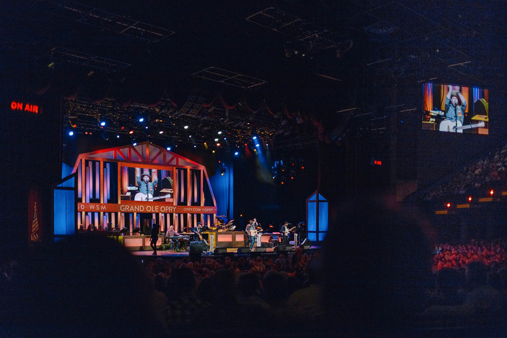 Drake White performing live at Nashville's Grand Ole Opry