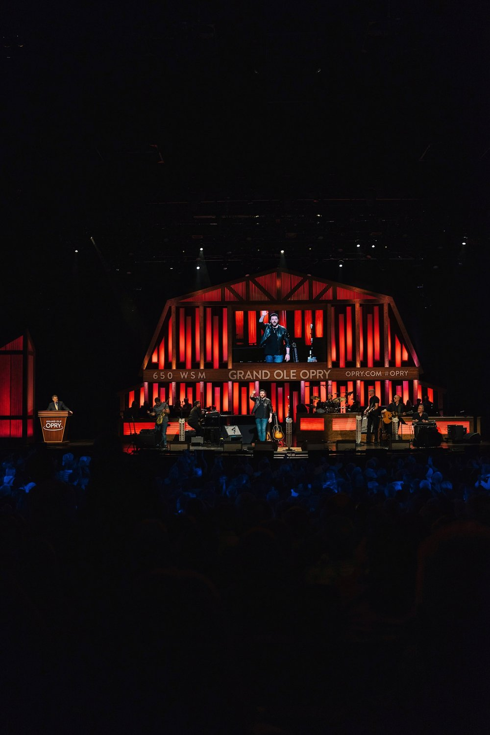 Chris Young performing at the Grand Ole Opry in Nashville
