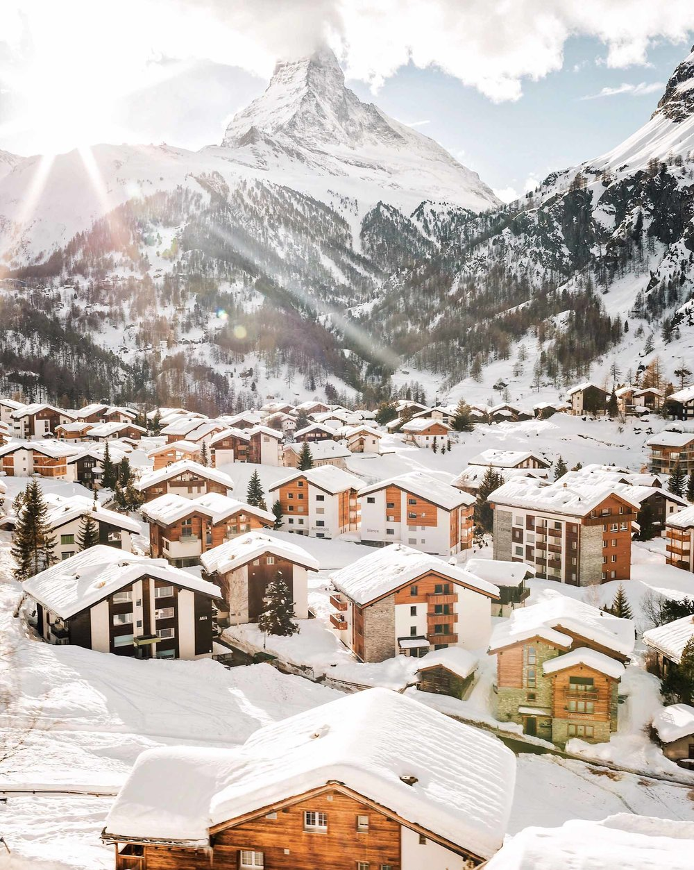 Golden hour in Zermatt, Switzerland