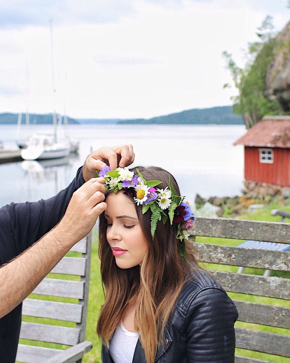 Midsummer flower crowns in Sweden
