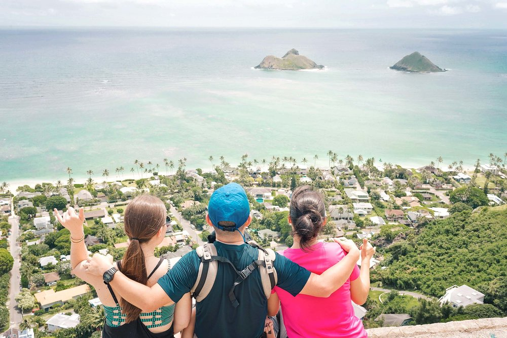 Lanikai Pillbox hike views - the most rewarding hike views in all of Oahu!