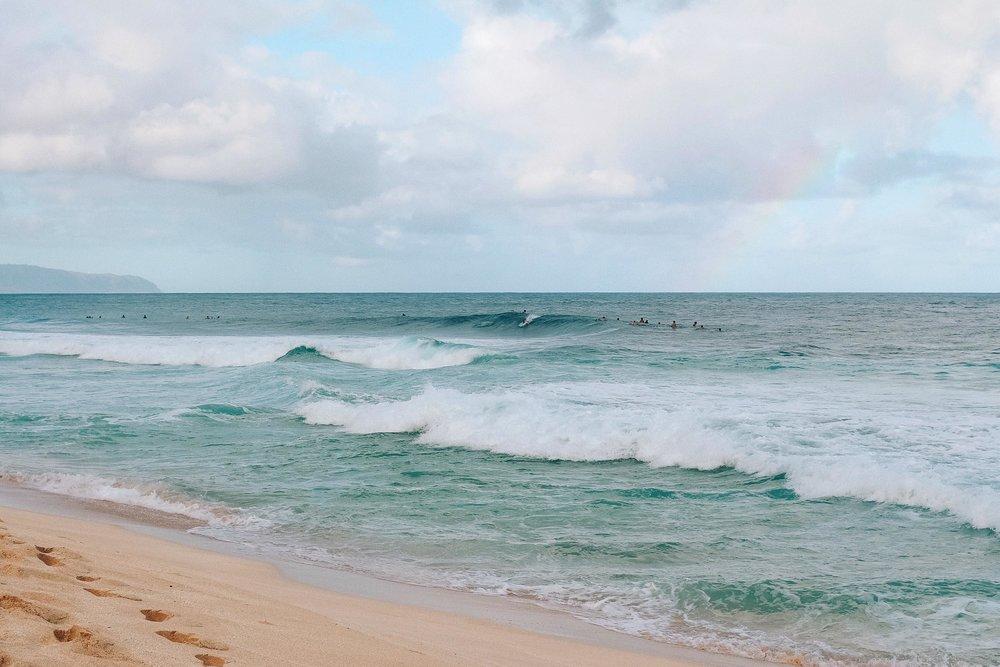 A beautiful beach on Oahu
