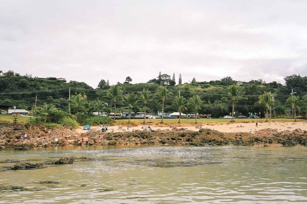 A beach on Oahu