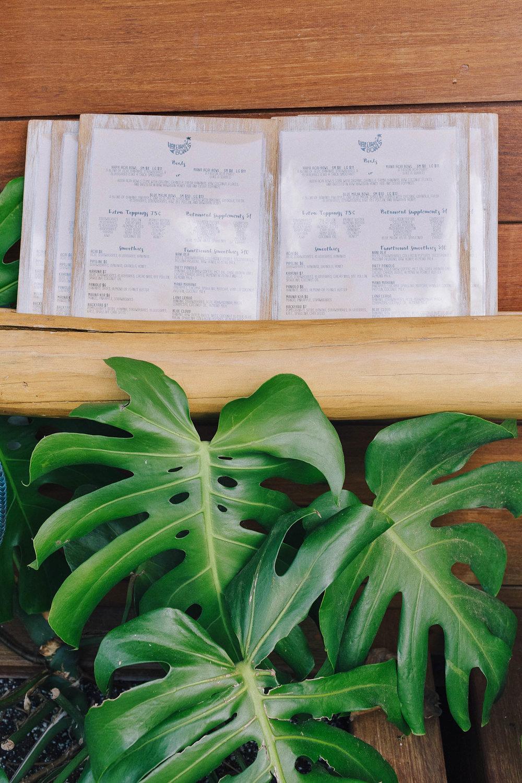 The menu at Haleiwa Bowls