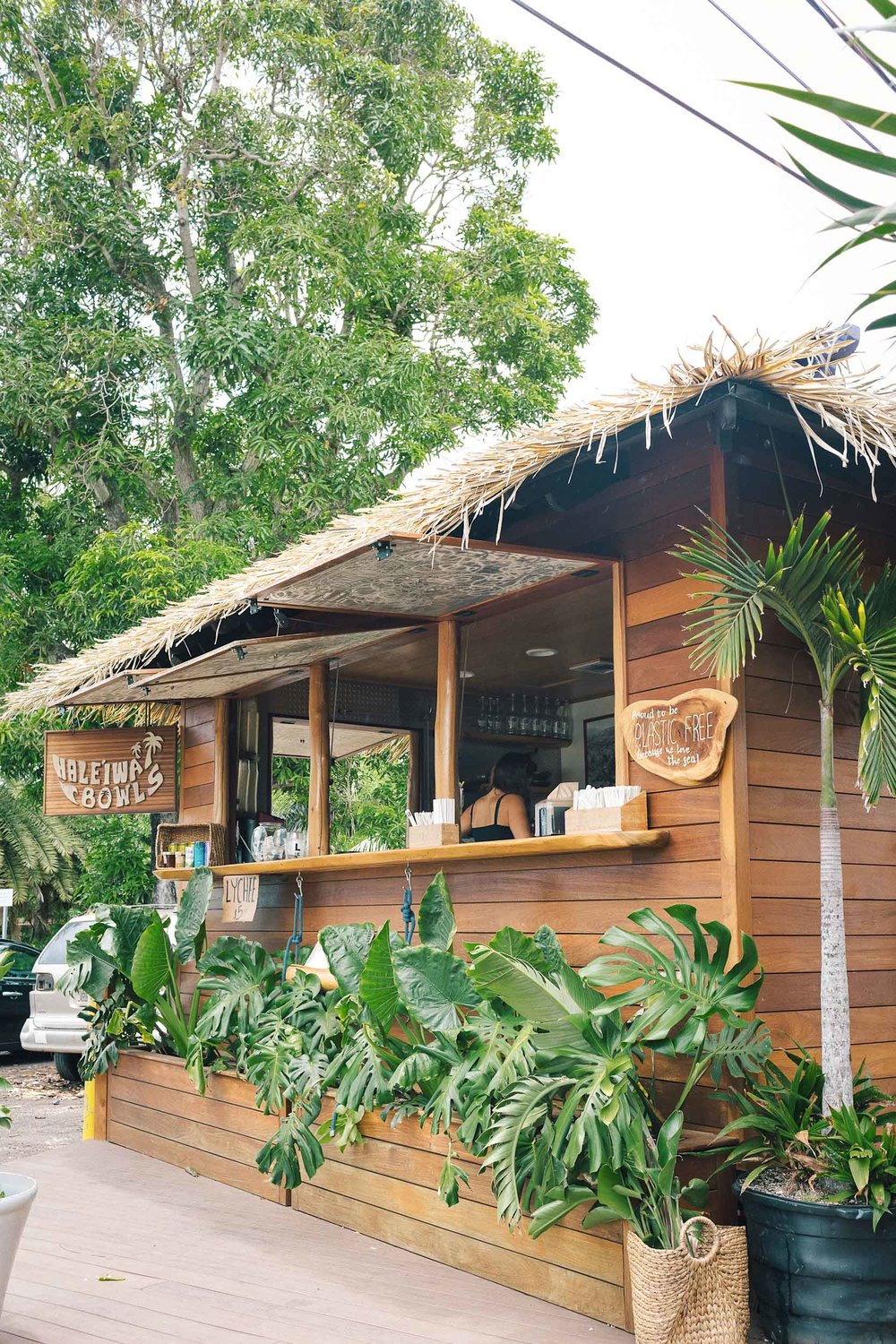 The Haleiwa Bowls shack in Haleiwa on Oahu's North Shore