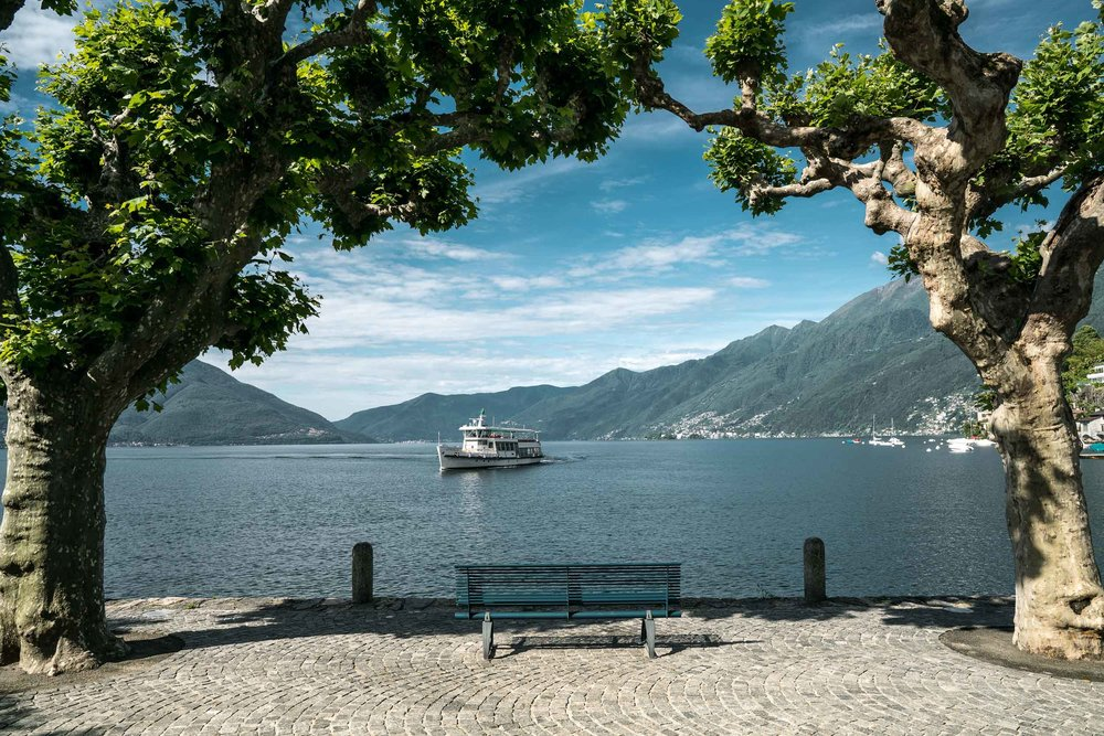 View of waterfront in Ascona on Lake Maggiore direction Ronco. Copyright by: Switzerland Tourism