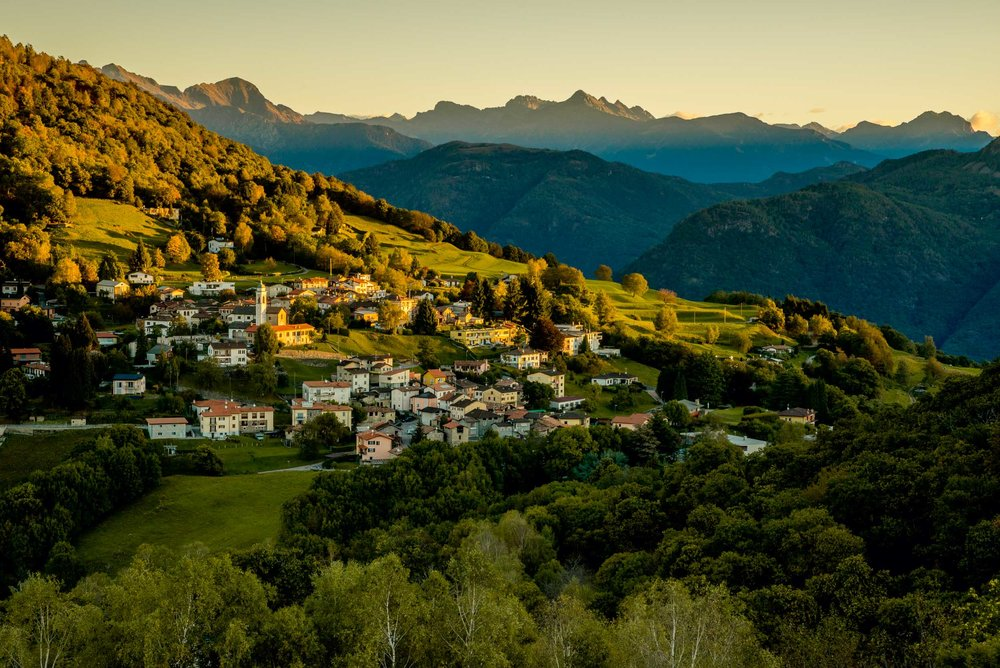 Malcantone, the gently curving, densely overgrown, domed hilly landscape, that curves up from Lake Lugano to Monte Lema, derived its livelihood for centuries mainly from one product: the chestnut.