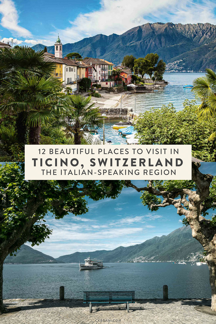 12 places you can't miss in the Italian-speaking region of Switzerland, Ticino. The perfect addition to your Swiss or Italy itinerary! #switzerland #italy #ticino