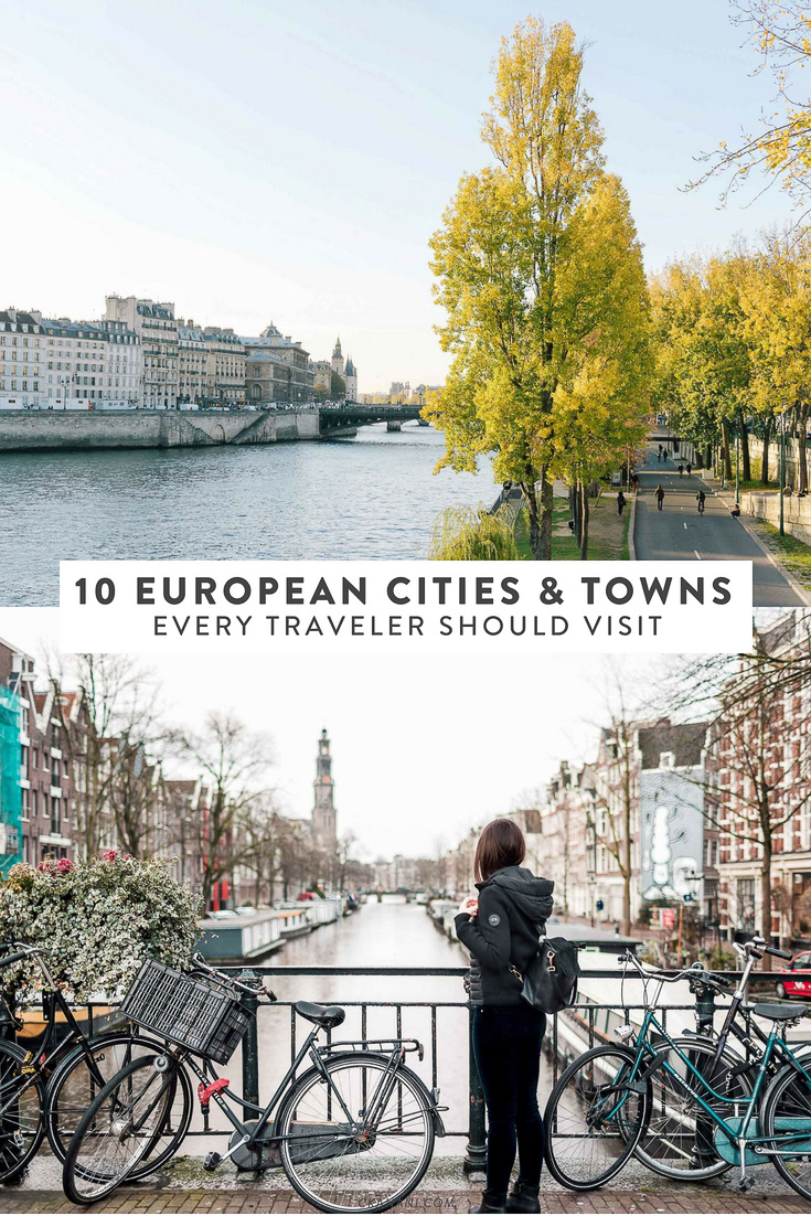 Are you planning a trip to Europe? Here are 10 cities and towns every traveler should visit. See the best of Europe, including Amsterdam, Interlaken, Rothenburg, and more! #travel #europe #itinerary