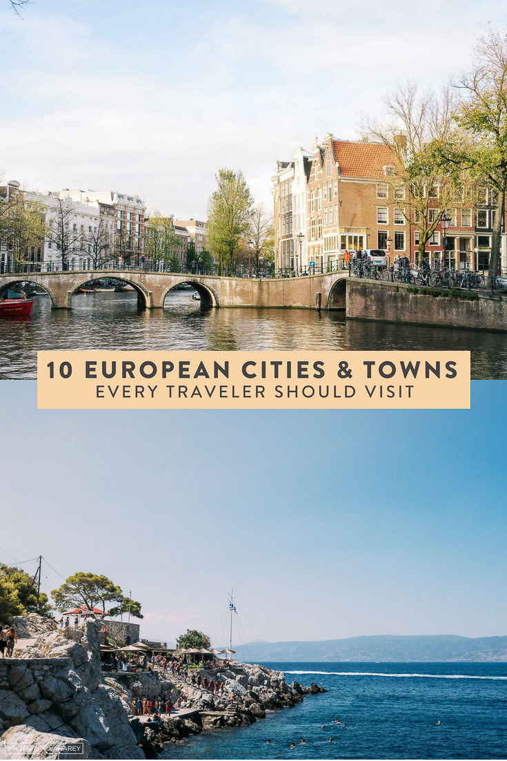 Are you planning a trip to Europe? Here are 10 cities and towns every traveler should visit. See the best of Europe, including Hvar, Hydra, Positano, Paris, and more! #travel #europe #itinerary