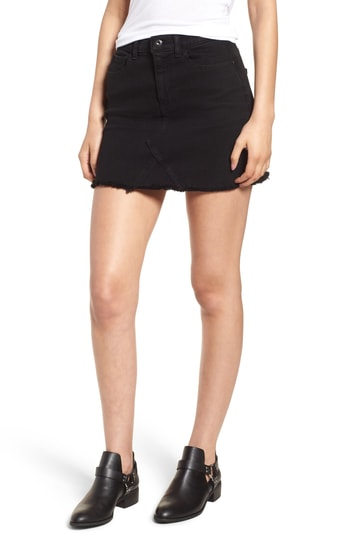 SP Black Stretch Denim Mini Skirt.jpg