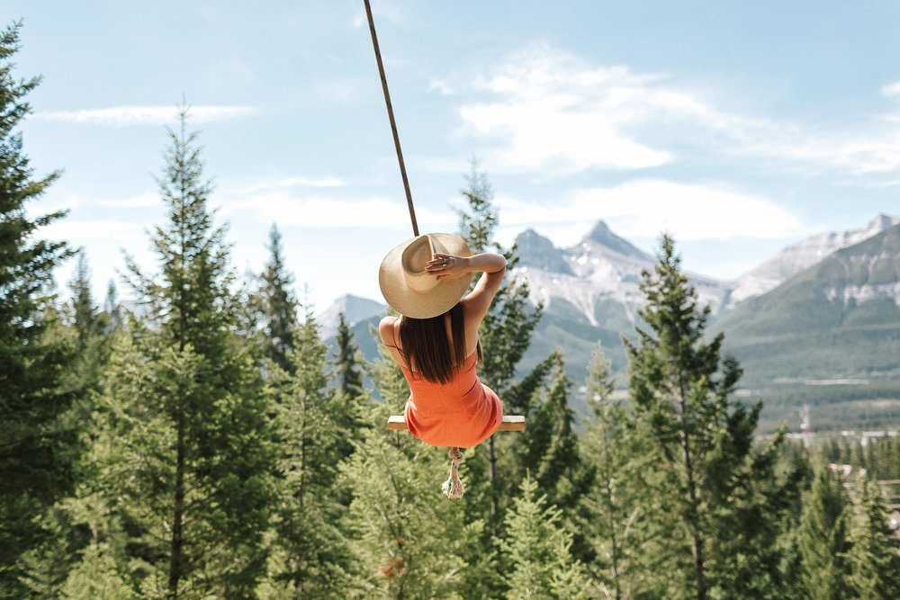 How To Find The Canmore Rope Swing Near Banff Canada