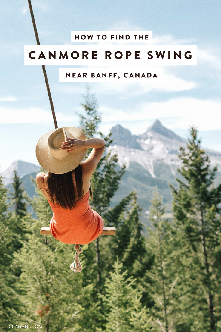 A guide to finding the Canmore rope swing near Banff National Park in Alberta, Canada. Directions as well as what to wear, how long it takes, and how to get the best photos. #banff #alberta #canmore