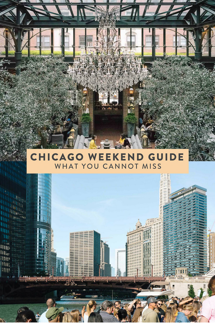 A Chicago weekend travel guide - what you cannot miss! Where to eat, what to do, and more. #chicago #cityguide #illinois