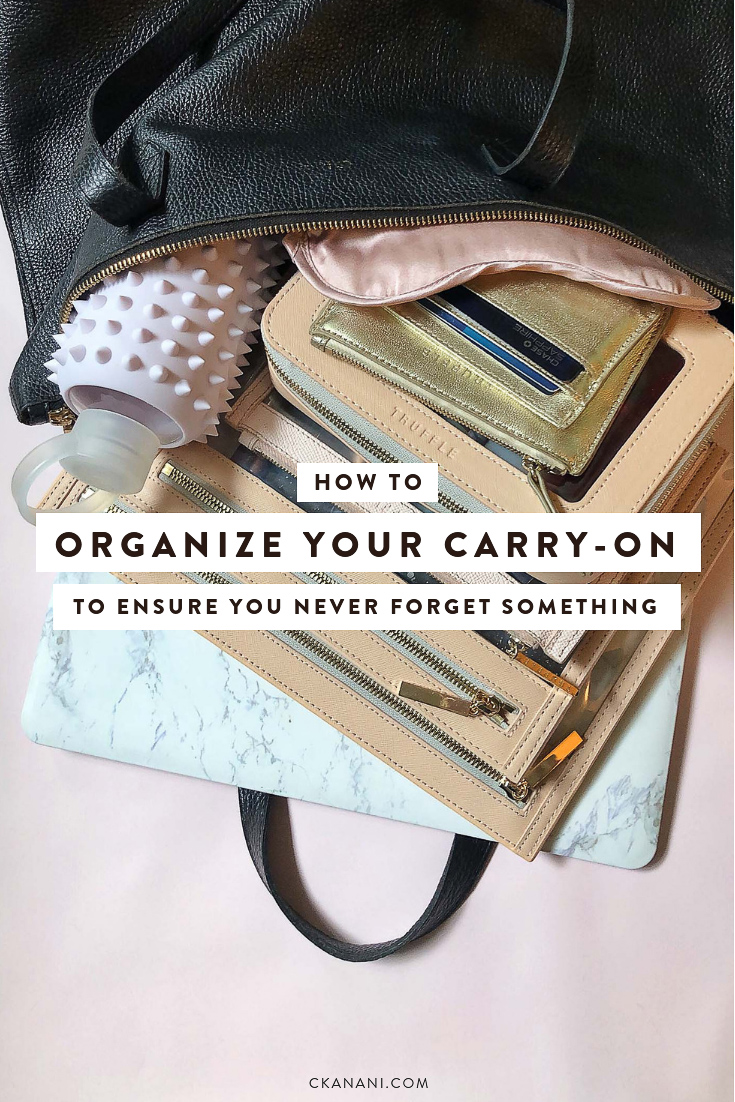 How to pack and organize your carry-on to ensure you never forget something! The best carry-on bag, bag organizer, and more. #packing #travel #carryon