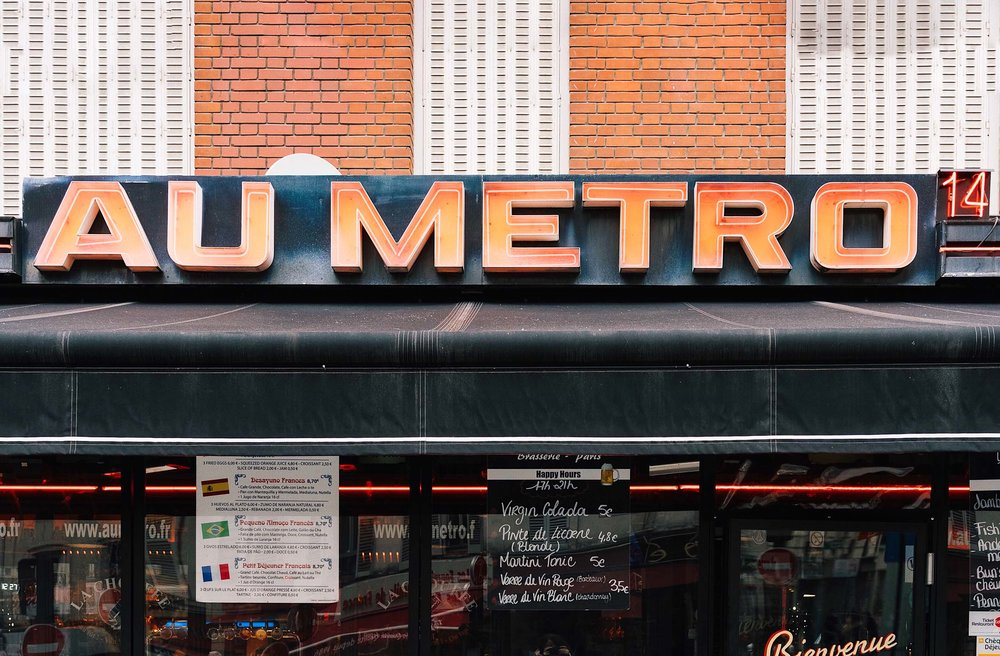 The Metro in Paris is the best way to get around!
