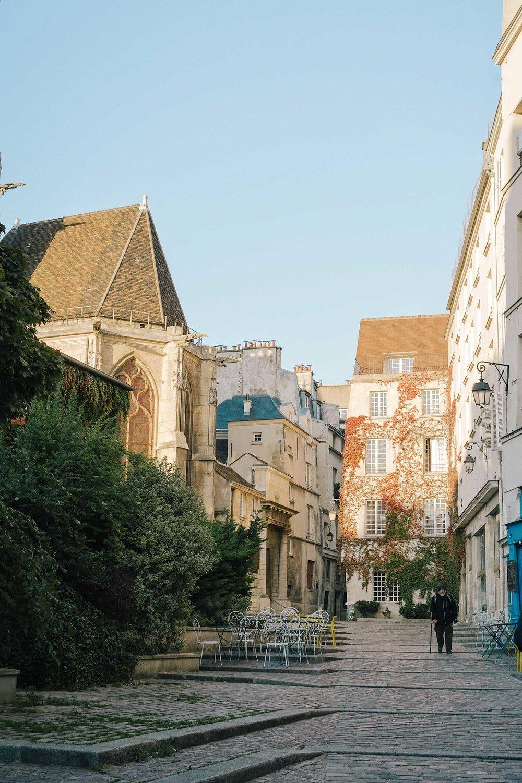 A sunny day in the Marais in Paris