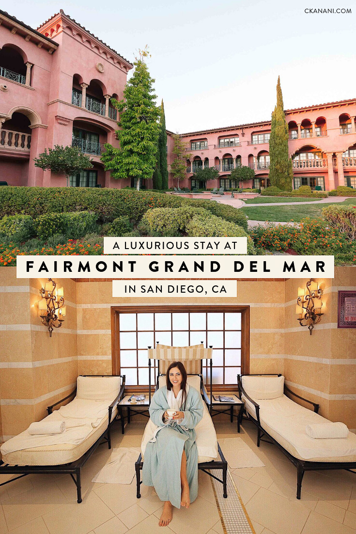 A guide to staying at the five-star luxury resort and spa Fairmont Grand Del Mar in sunny San Diego, California #fairmontmoments #fairmonthotels #seekerproject #accorhotels #luxuryhotel #sandiego