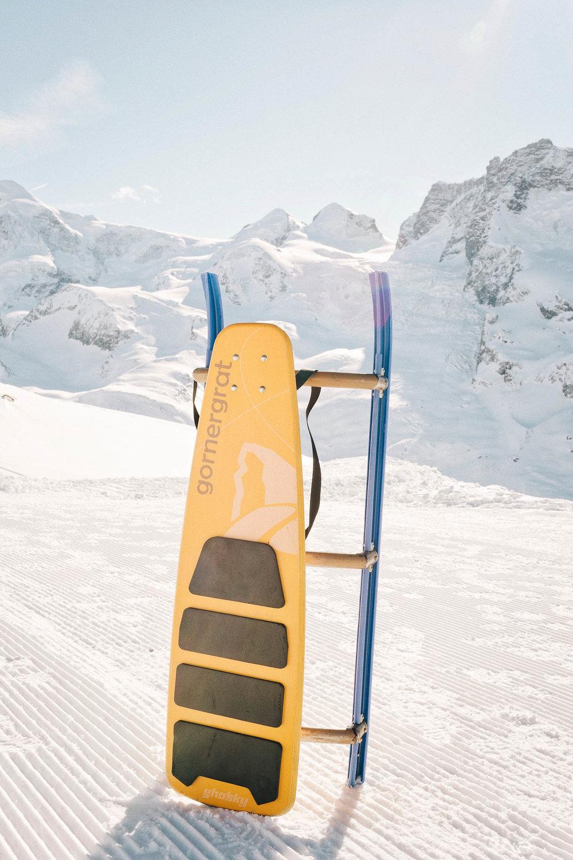 When in Zermatt, go tobagganing