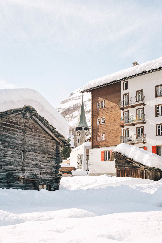A church in town in Zermatt