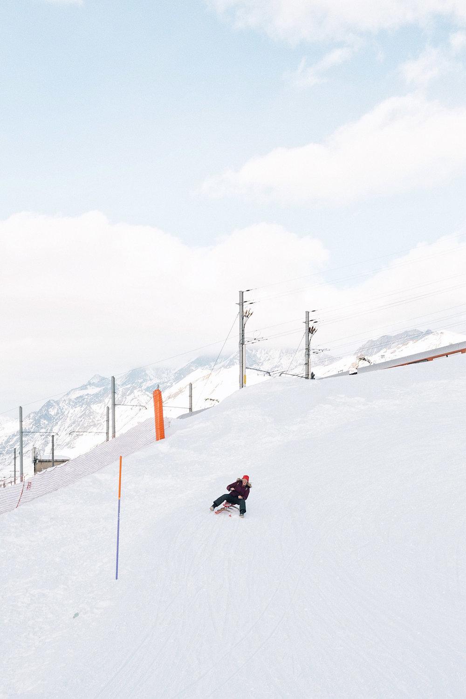 Sledding in Zermatt is so much fun!