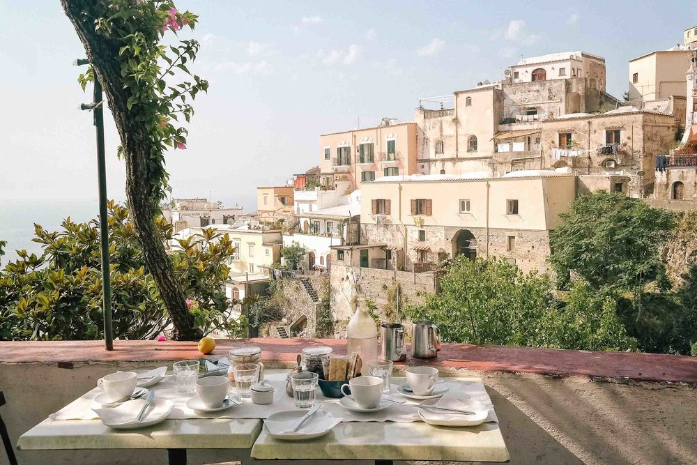 Breakfast at Dimora del Podesta, the best place to stay in Positano