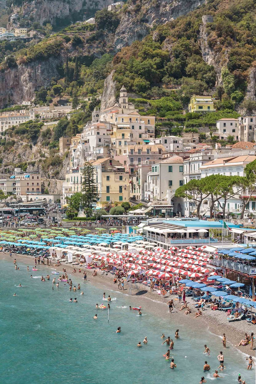 The beach in Amalfi, Italy