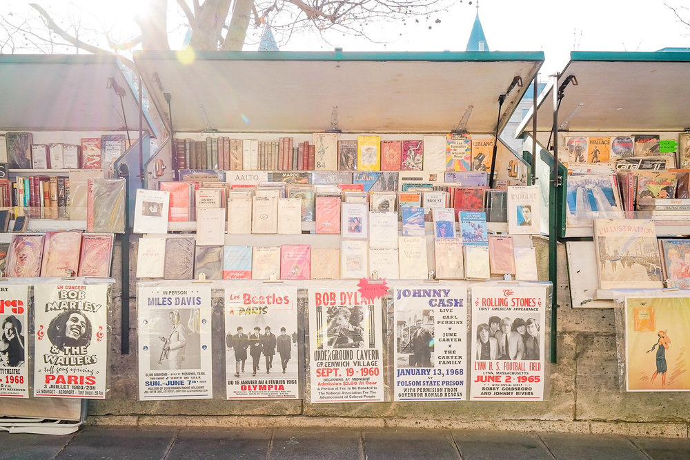 Posters for sale on the Seine
