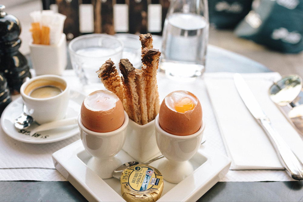 My favorite breakfast spot in Paris, Cafe St. Regis!