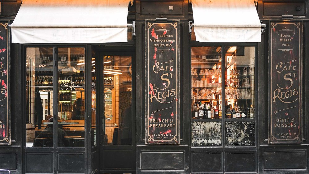 The best Paris itinerary includes a can't miss breakfast spot in Paris; Le St. Regis Cafe