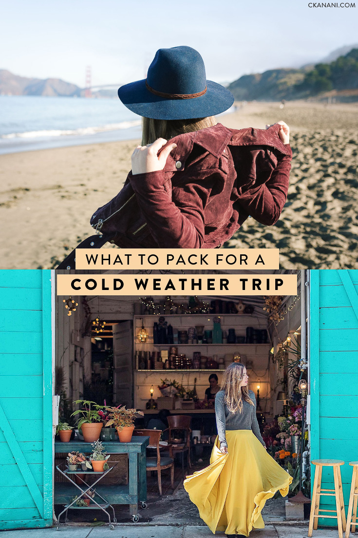 Heading out on a cold weather holiday? Here is everything you need to pack to stay warm and also fashionable on your trip! Free printable checklist included. #packing #coldweather #travel