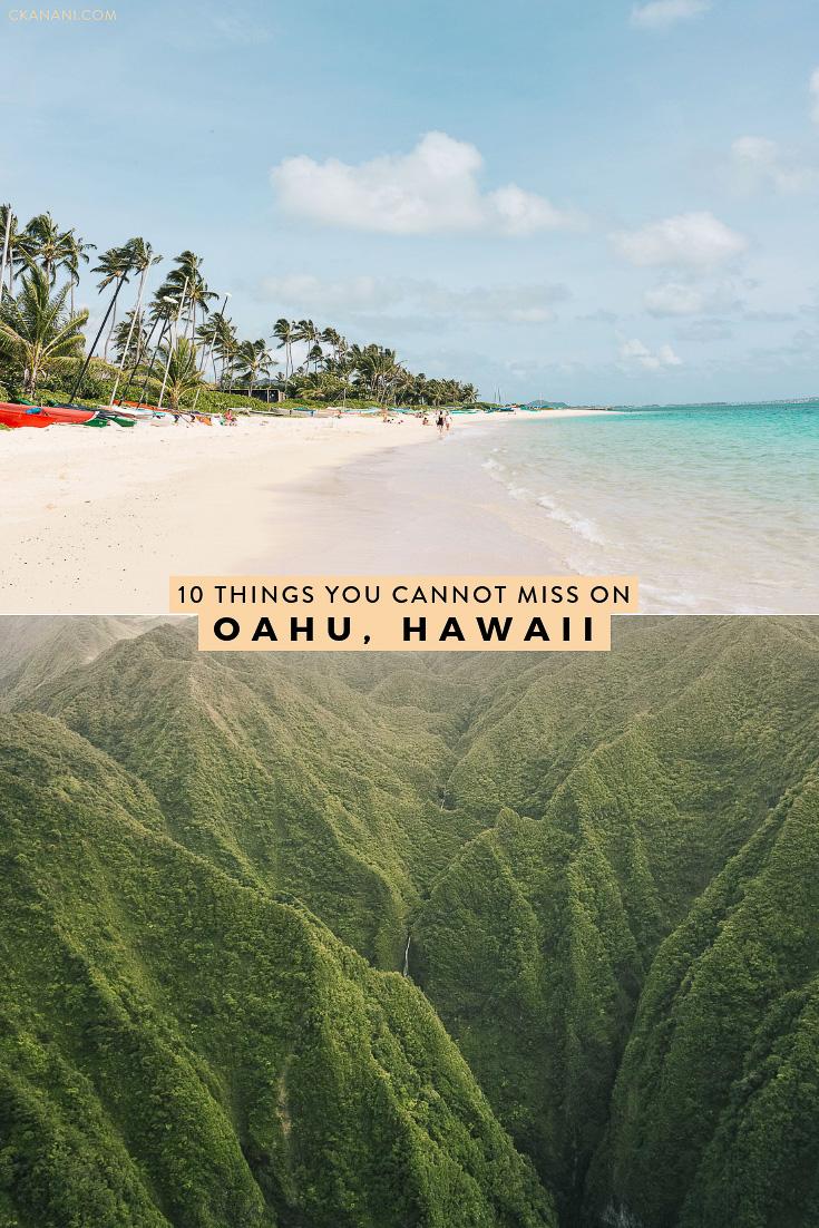 Heading to Hawaii? Here are the top 10 things you shouldn't miss on Oahu, from a local! #oahu #hawaii #honolulu #itinerary #waikiki #travel #tripideas #kailua #lanikai