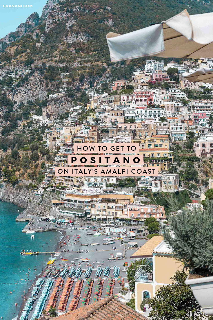 How to get to Positano on Italy's Amalfi Coast from Naples, Sorrento, Salerno, Rome, Florence, or elsewhere. All available options for a stress-free transfer. #positano #italy #travel #amalficoast