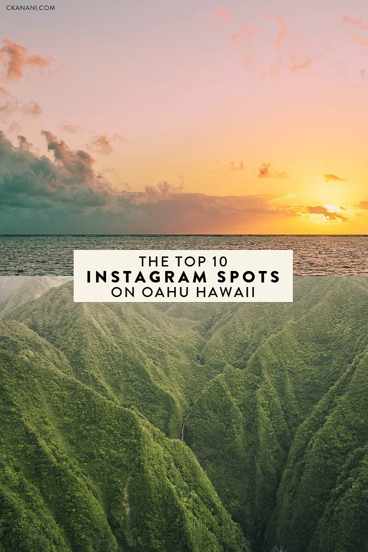 10 most beautiful places and top Instagram spots in Oahu Hawaii, including the Stairway to Heaven, Lanikai Beach, and more. #hawaii #travel #instagram #oahu #travelphotography